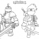 Roblox Coloring Pages Ninja and Knight