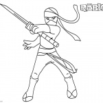 Roblox Girl Coloring Pages Ninja Clipart