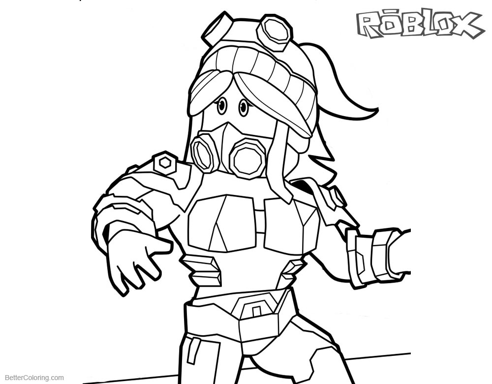 Roblox Girl Coloring Pages printable for free