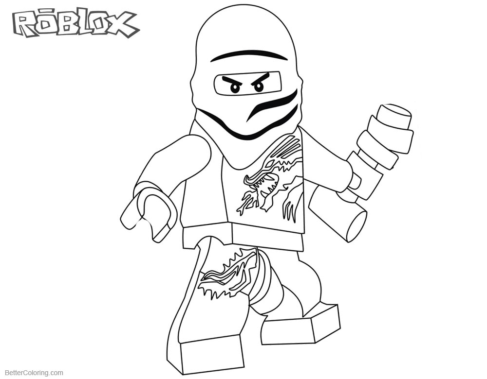 Roblox Lego Ninjago Coloring Pages Zane printable for free