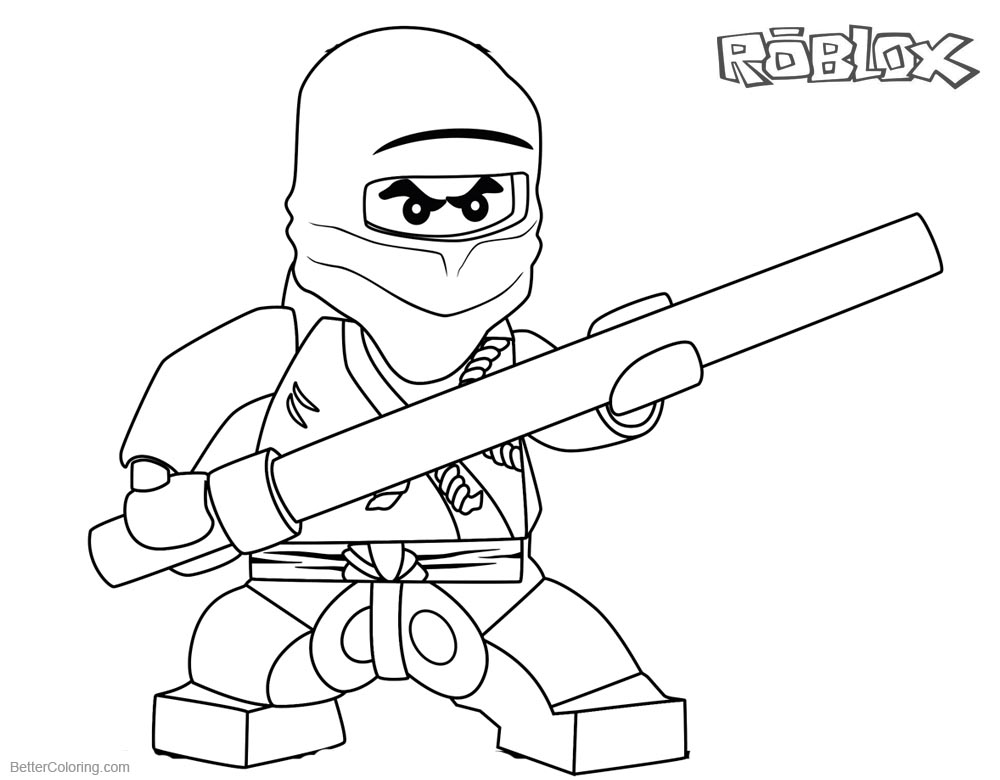 Roblox Lego Ninjago Coloring Pages printable for free