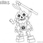 Roblox Lego Ninjago Skeleton Coloring Pages
