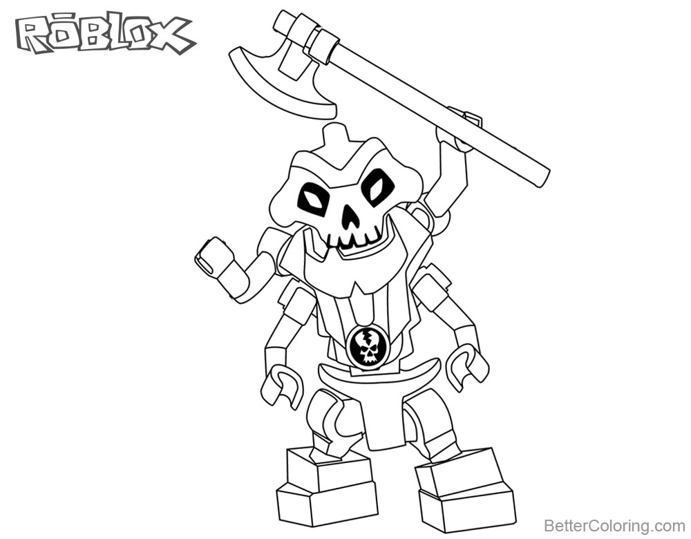 Roblox Lego Ninjago Skeleton Coloring Pages printable for free