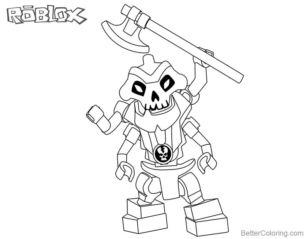Roblox Lego Ninjago Skeleton Coloring Pages Free Printable