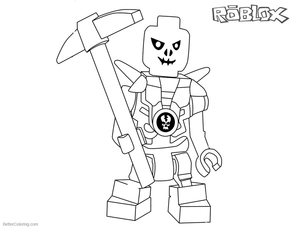 Roblox Lego Ninjago Skulkin Coloring Pages printable for free
