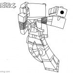 Roblox Minecraft Coloring Pages Fighting