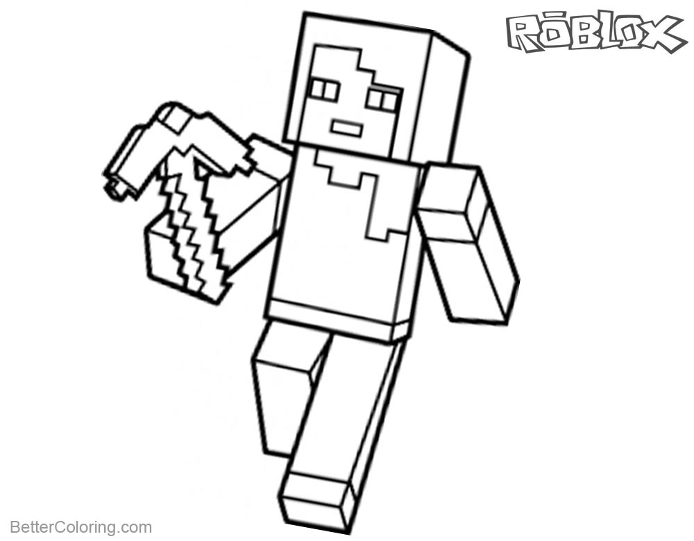 Roblox Minecraft Coloring Pages Lineart