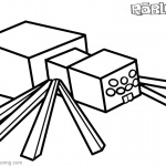 Roblox Minecraft Coloring Pages Spider