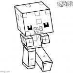 Roblox Minecraft Coloring Pages Zombie