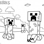 Roblox Minecraft Coloring pages Creepers