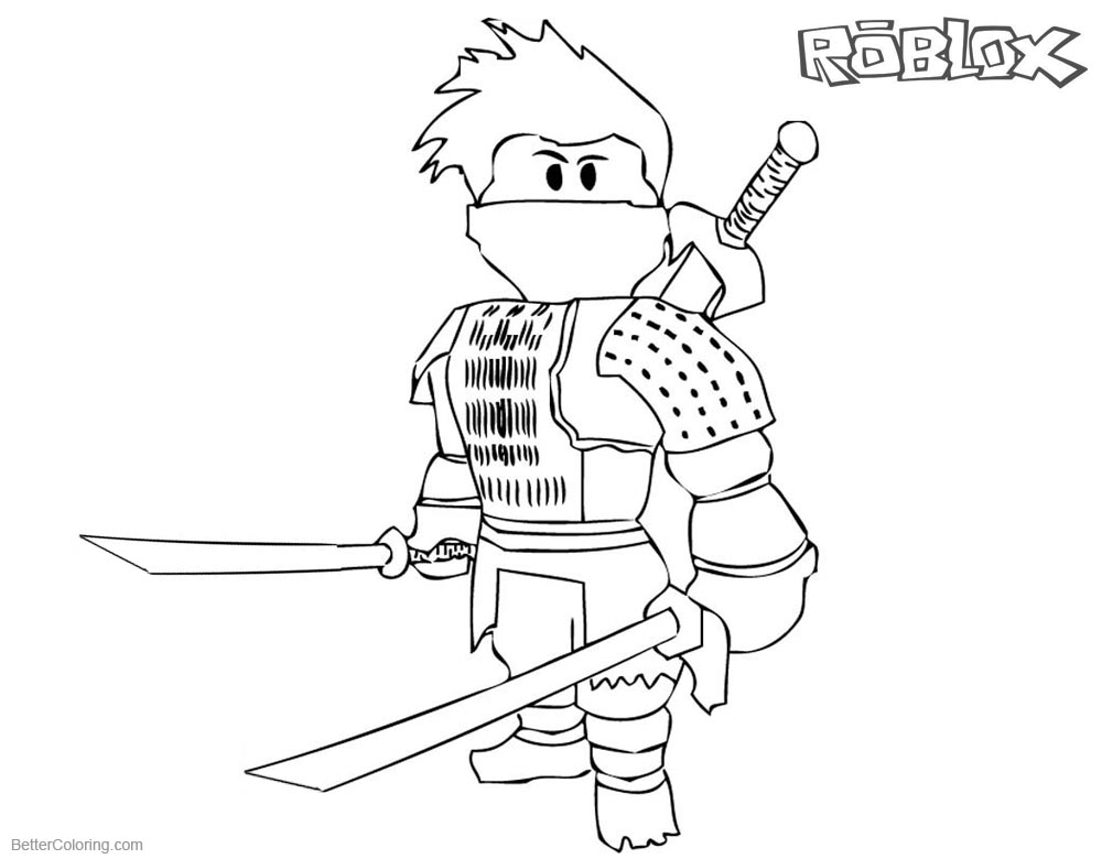 Roblox Ninja Coloring Pages printable for free