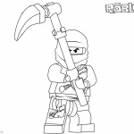 Roblox Ninjago Cole Coloring Pages