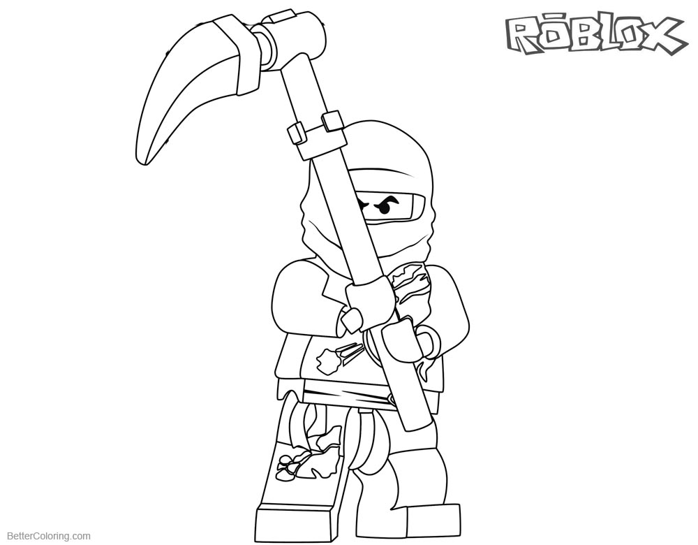 Roblox Ninjago Cole Coloring Pages printable for free