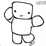 Roblox Noob Coloring Pages Chibi