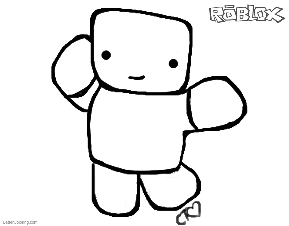 Roblox Noob Coloring Pages Coloring