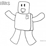 Roblox Noob Coloring Pages Happy Noob