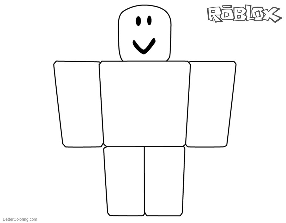 Roblox Noob Coloring Pages Simple Noob Picture printable for free