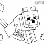 Roblox coloring pages Minecraft Dog