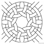 Round Celtic Knot Coloring Pages Colouring Sheet