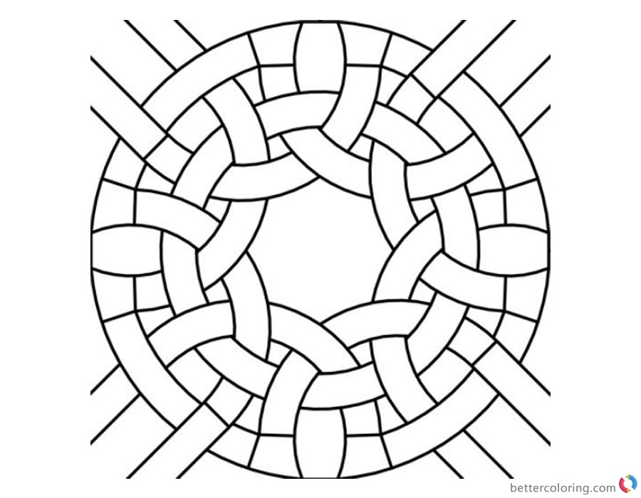 Round Celtic Knot Coloring Pages Colouring Sheet printable for free