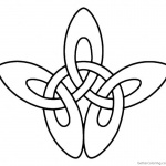 Shamrock Celtic Knot Coloring Pages