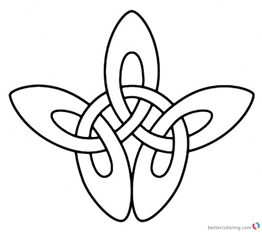 Shamrock Celtic Knot Coloring Pages printable for free