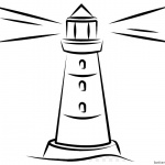 Simple Lighthouse Coloring Pages