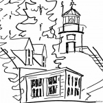 Sketch Lighthouse Coloring Pages