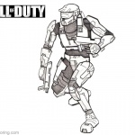 Sketch of Call of Duty Coloring Pages