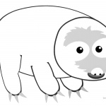 Sloth Coloring Pages Cartoon Three Toed Sloth