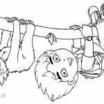 Sloth Coloring Pages Go Diego Go