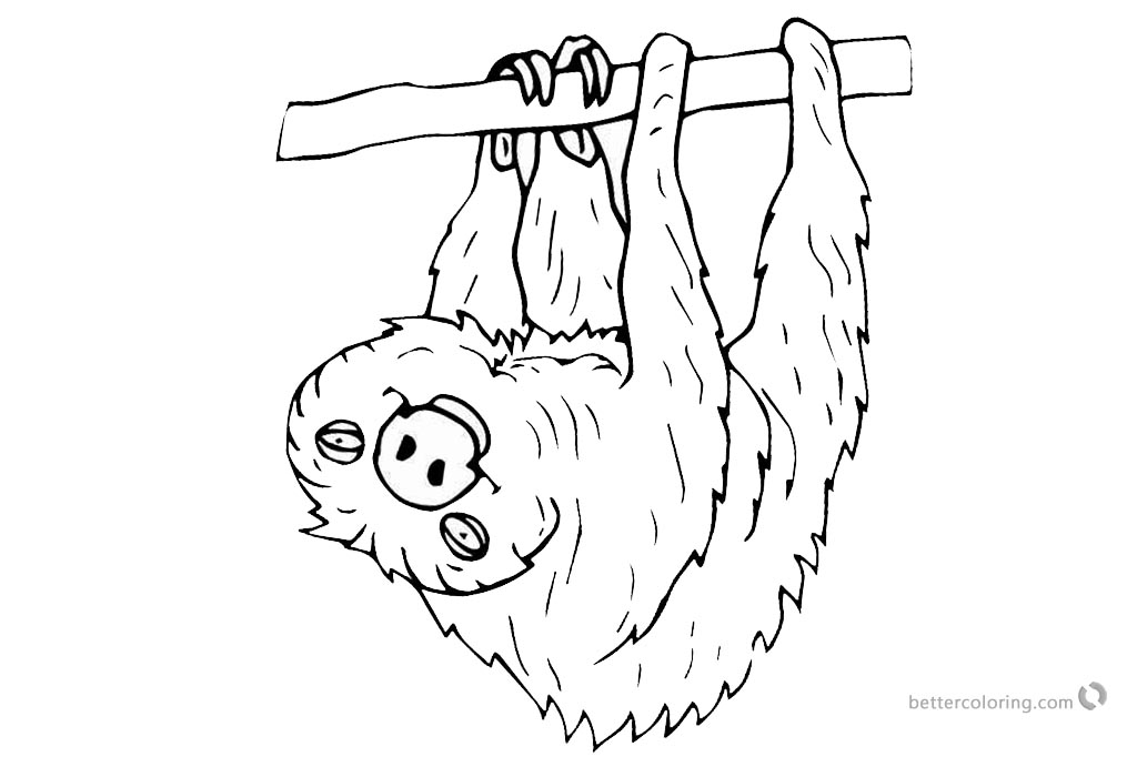 Sloth Coloring Pages I See Uprintable for free
