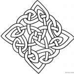 Square Celtic Knot Coloring Pages