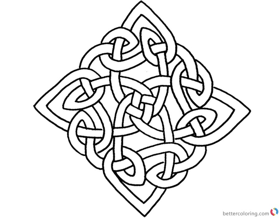 Square Celtic Knot Coloring Pages Free Printable
