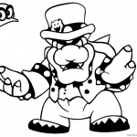 Super Mario Odyssey Coloring Pages Bowser