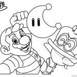 Super Mario Odyssey Coloring Pages Line Drawing
