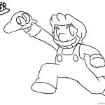 Super Mario Odyssey Coloring Pages Lineart by Xero-J