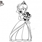 Super Mario Odyssey Coloring Pages Princess Peach