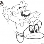 Super Mario Odyssey Coloring Pages Retro style