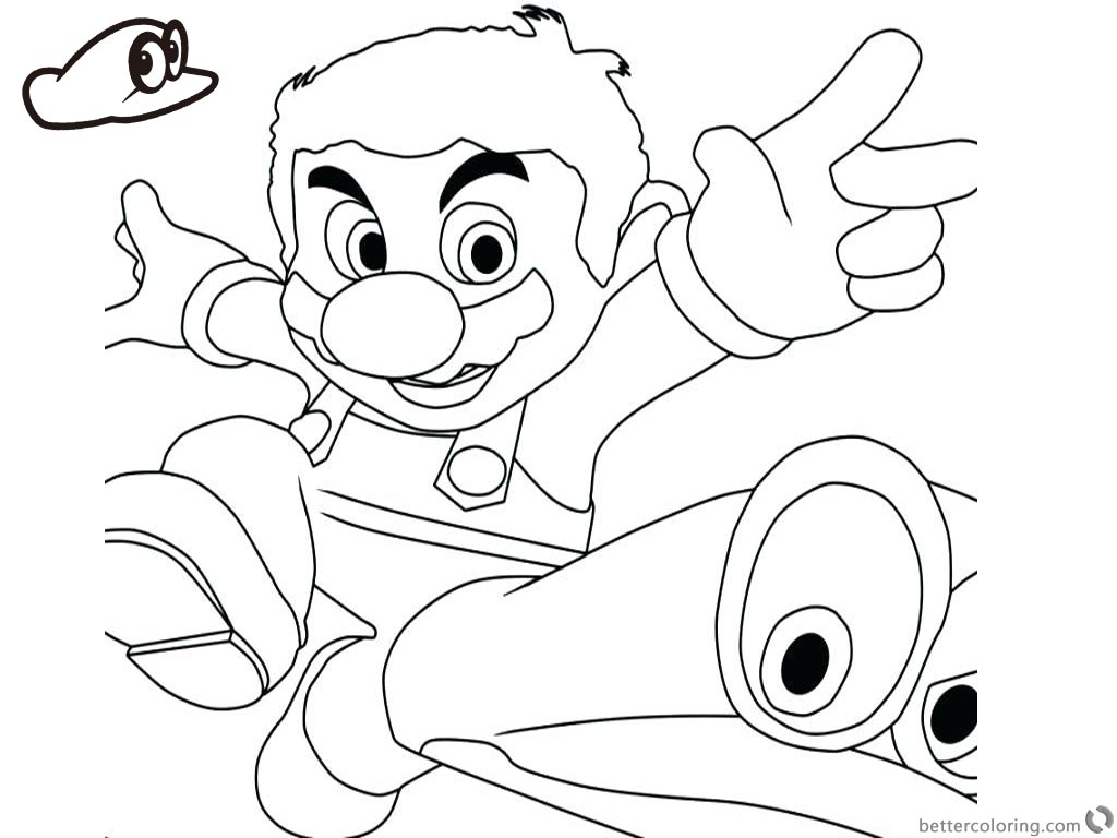 Super Mario Odyssey Coloring Pages Running Super Mario Odyssey printable for free