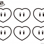 Super Mario Odyssey Coloring Pages Six Hearts