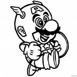 Super Mario Odyssey Coloring Pages Super Mario x Captain America