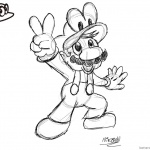 Super Mario Odyssey Coloring Pages Victory Pose