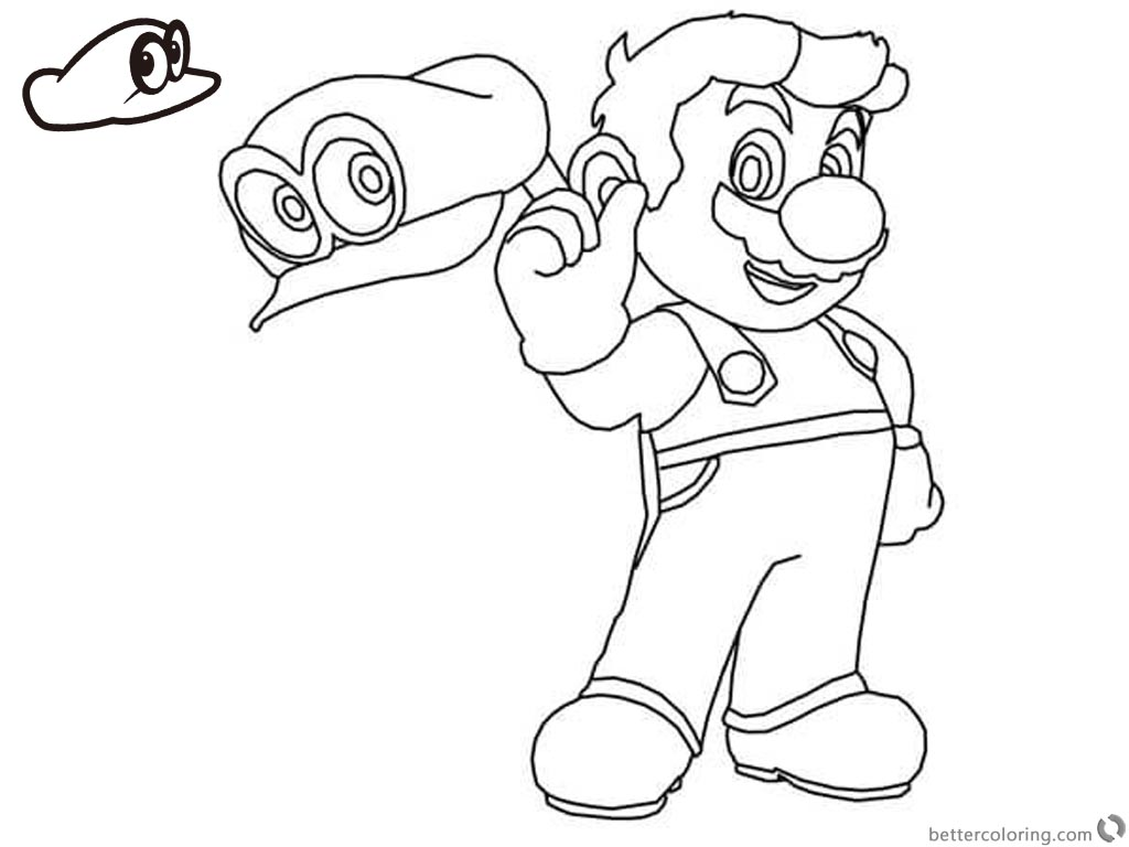 Super Mario Odyssey Coloring Pages printable for free