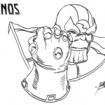 Thanos Coloring Pages Drawing by George Perez