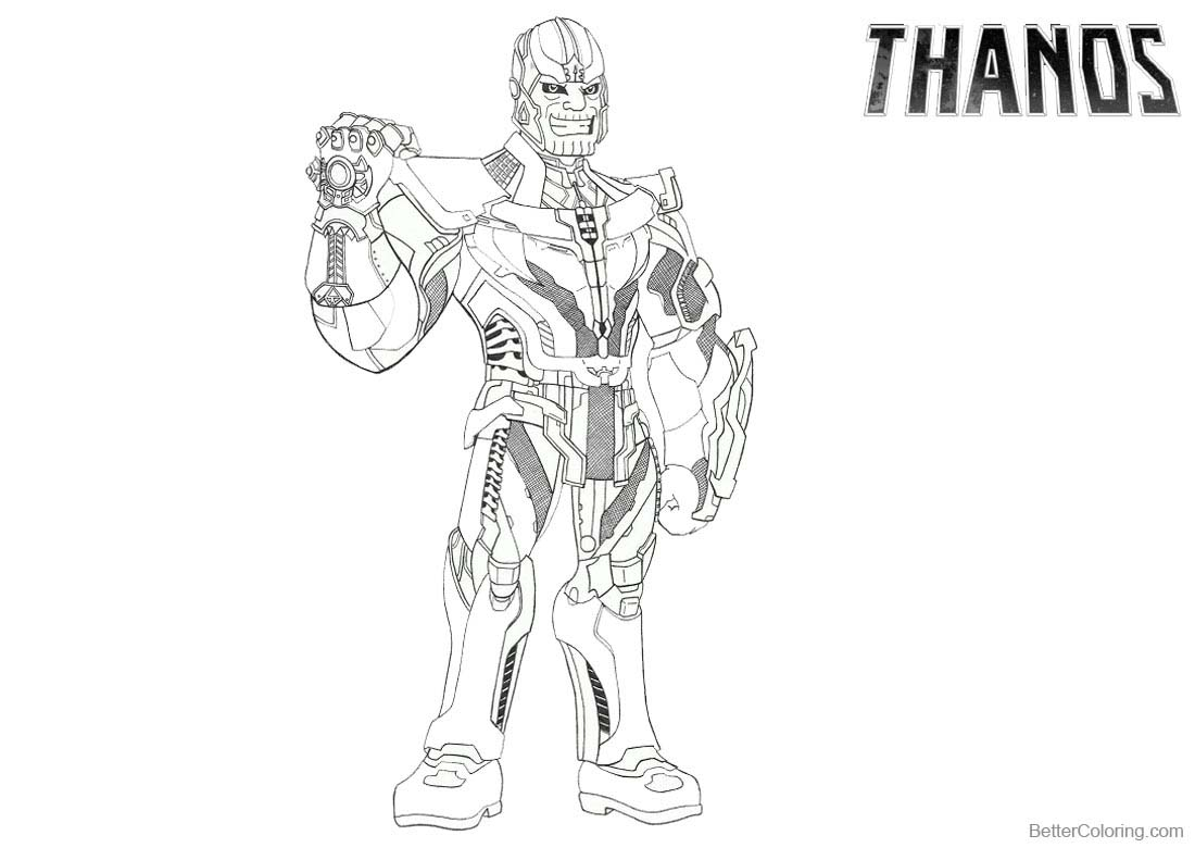 Superhero Thanos Coloring Pages: Thanos Coloring Pages Equestria Girls Style