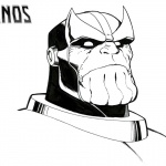 Thanos Coloring Pages Face Drawing