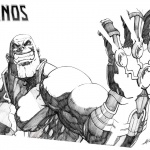 Thanos Coloring Pages Fan Art by AndiMoo
