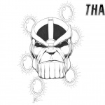 Thanos Coloring Pages Fan Drawing