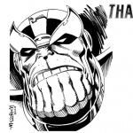 Thanos Coloring Pages by Al Milgrom